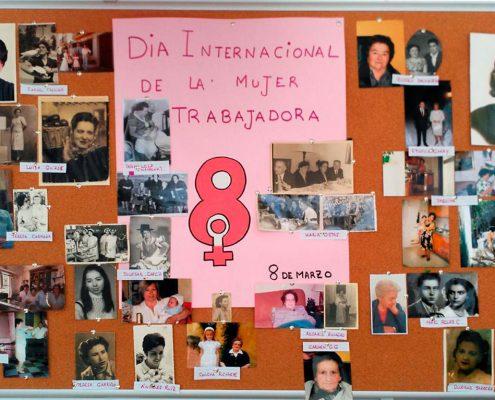 Mural día de la Mujer trabajadora